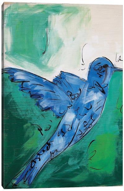 Hummingbird Blue I Canvas Art Print