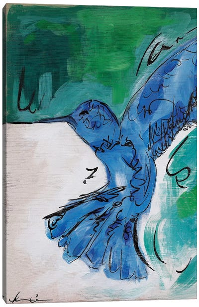 Hummingbird Blue II Canvas Art Print