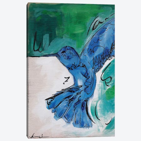 Hummingbird Blue II Canvas Print #LCM26} by Lauren Combs Canvas Art