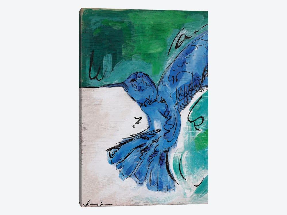 Hummingbird Blue II by Lauren Combs 1-piece Canvas Print
