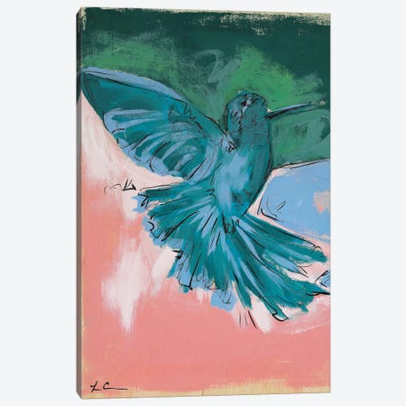 Hummingbird Love I Canvas Print #LCM27} by Lauren Combs Canvas Art