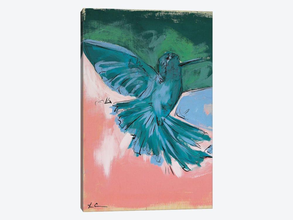 Hummingbird Love I by Lauren Combs 1-piece Canvas Art