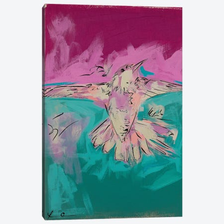 Hummingbird Pride II Canvas Print #LCM30} by Lauren Combs Canvas Art