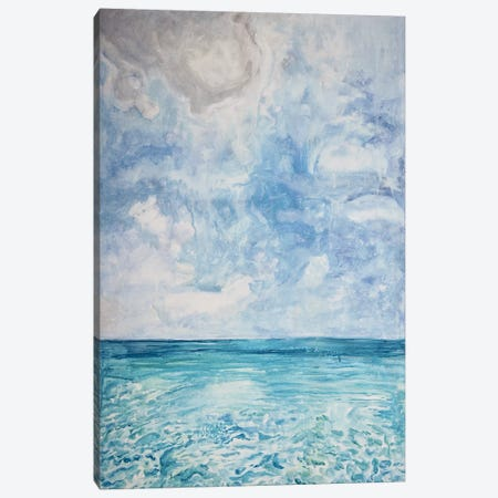 Peaceful Beach Canvas Print #LCM38} by Lauren Combs Canvas Wall Art