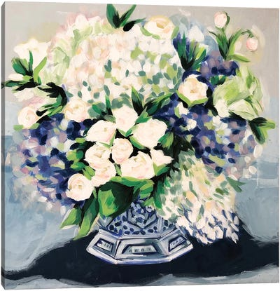 Blue And White Canvas Art Print