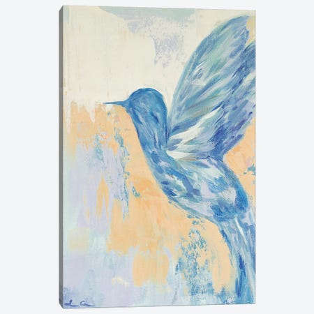 Blue Hummingbird Canvas Print #LCM58} by Lauren Combs Canvas Wall Art