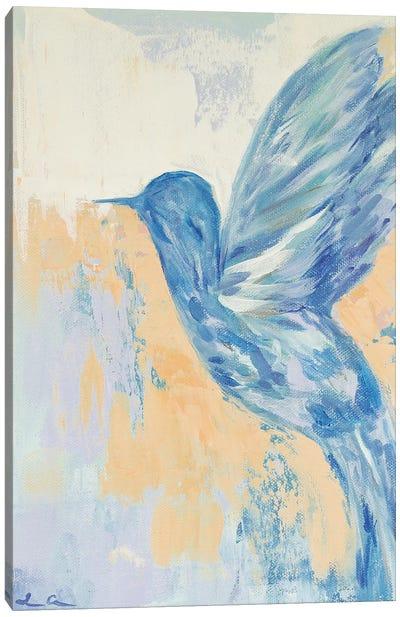 Blue Hummingbird Canvas Art Print