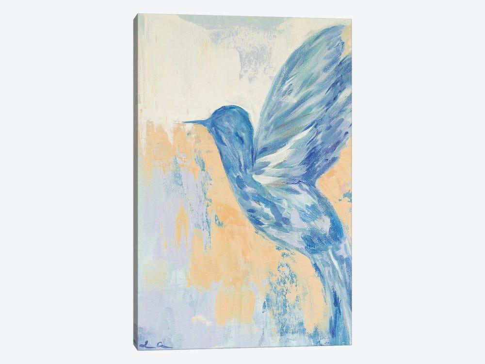Blue Hummingbird by Lauren Combs 1-piece Canvas Artwork