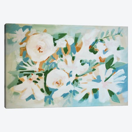 Deconstructed Floral 3-Piece Canvas #LCM60} by Lauren Combs Art Print