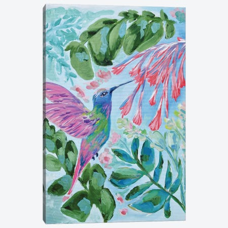 Hummingbird In Flight Canvas Print #LCM65} by Lauren Combs Canvas Artwork