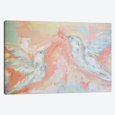 Love Birds Canvas Print #LCM66} by Lauren Combs Canvas Artwork