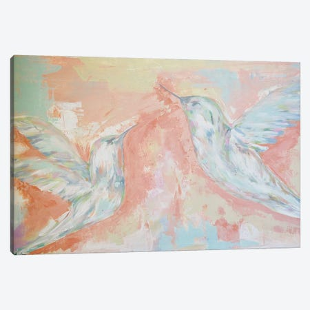 Love Birds Canvas Print #LCM66} by Lauren Combs Canvas Artwork