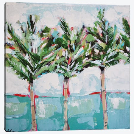 Row Palms Canvas Print #LCM70} by Lauren Combs Canvas Artwork