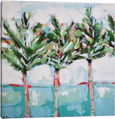 Row Palms Canvas Art Print