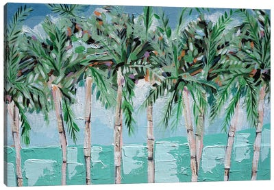 Boca Palms Canvas Art Print