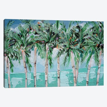 Boca Palms Canvas Print #LCM72} by Lauren Combs Canvas Artwork