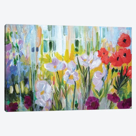 Garden of Poppies Canvas Print #LCM76} by Lauren Combs Canvas Print