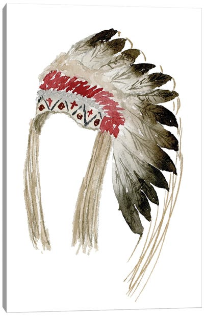 Native American Head Dress Canvas Art Print