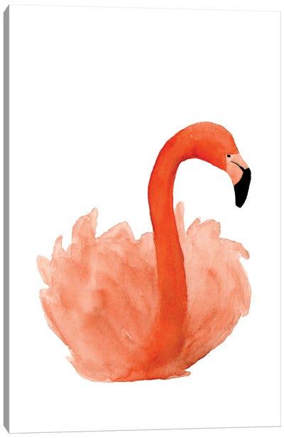 Resting Flamingo Canvas Art Print