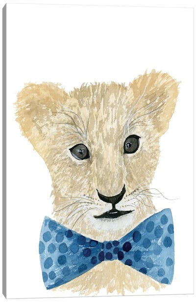Lion With Bow Tie Canvas Art Print