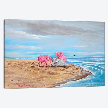 Dog Pile Canvas Print #LCR11} by Laura Curtin Canvas Print