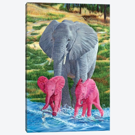 Double Trouble Canvas Print #LCR12} by Laura Curtin Canvas Print