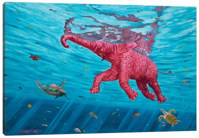 Learning To Swim Canvas Art Print