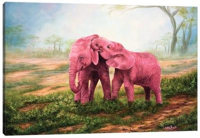 Pink Elephants Canvas Art Print