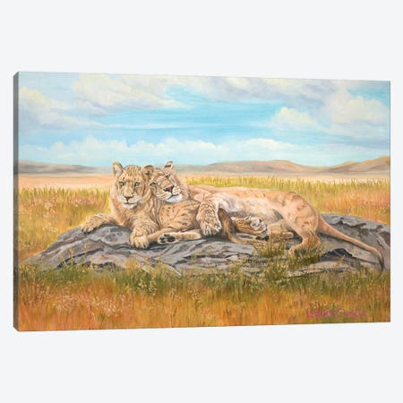 Reunited 3-Piece Canvas #LCR34} by Laura Curtin Canvas Art