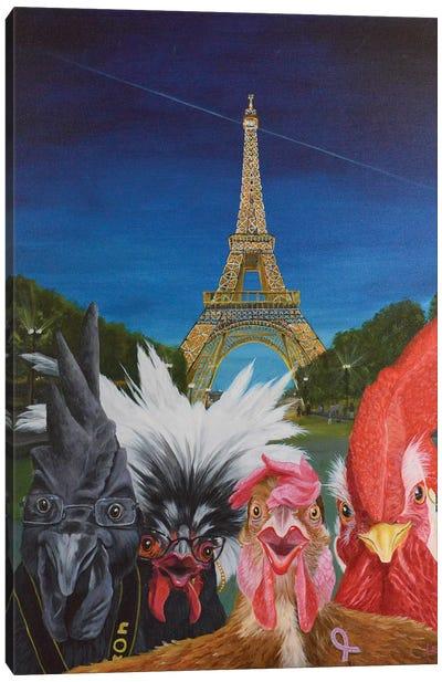 Vacation In Paris Canvas Art Print