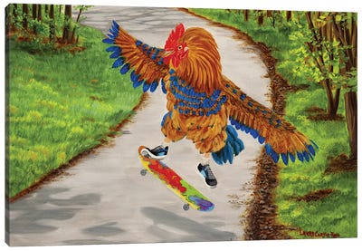Chick Flip Canvas Art Print