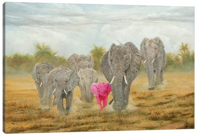 Charge Canvas Art Print