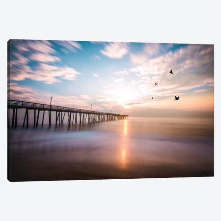 Virginia Beach Sunrise Canvas Print #LCS101} by Lucas Moore Canvas Art