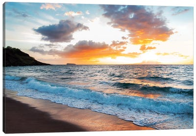 Maui Black Sand Beach Canvas Art Print