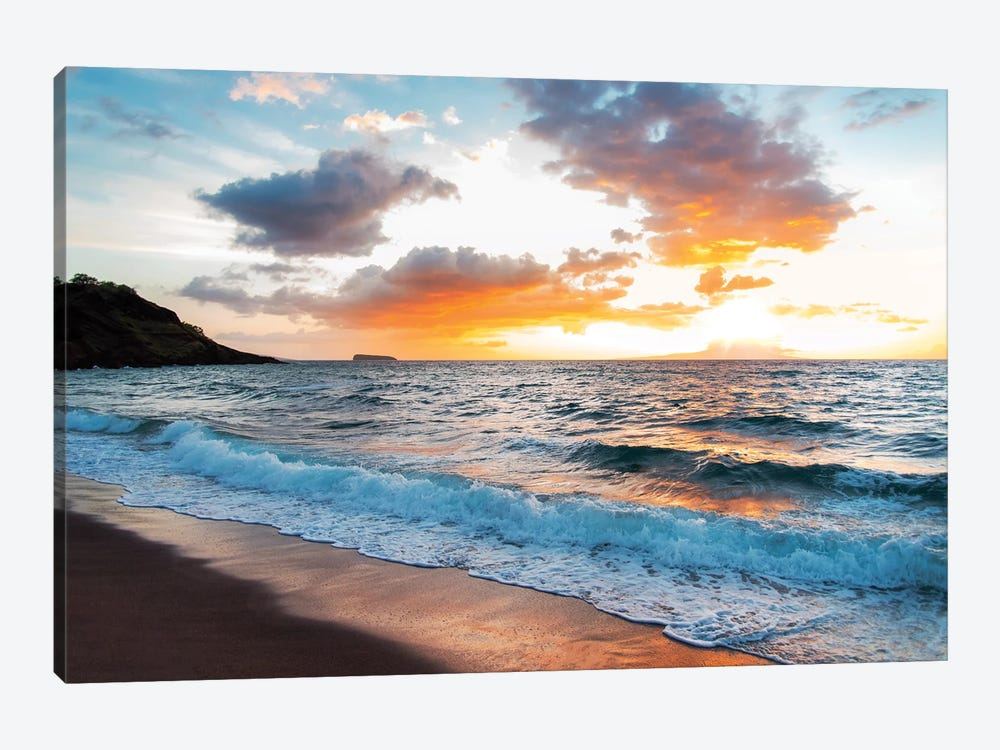 Maui Black Sand Beach by Lucas Moore 1-piece Canvas Art