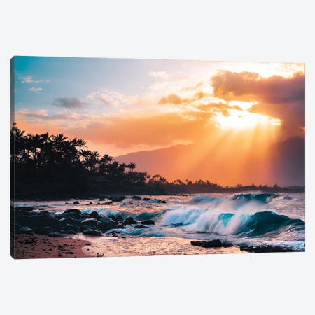 Sunset Paradise Canvas Print #LCS116} by Lucas Moore Canvas Artwork