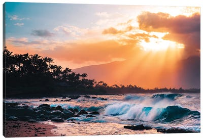 Sunset Paradise Canvas Art Print