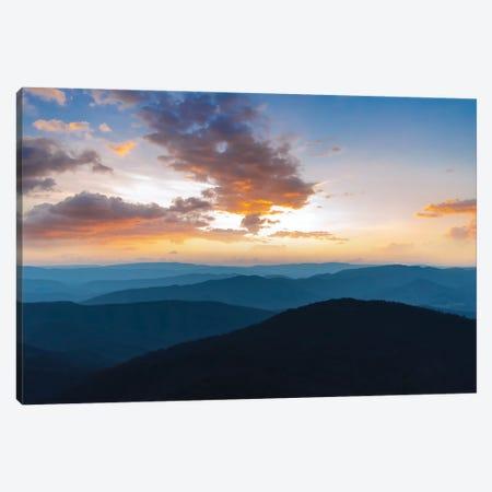 Blue Ridge Sunset Canvas Print #LCS118} by Lucas Moore Canvas Art Print