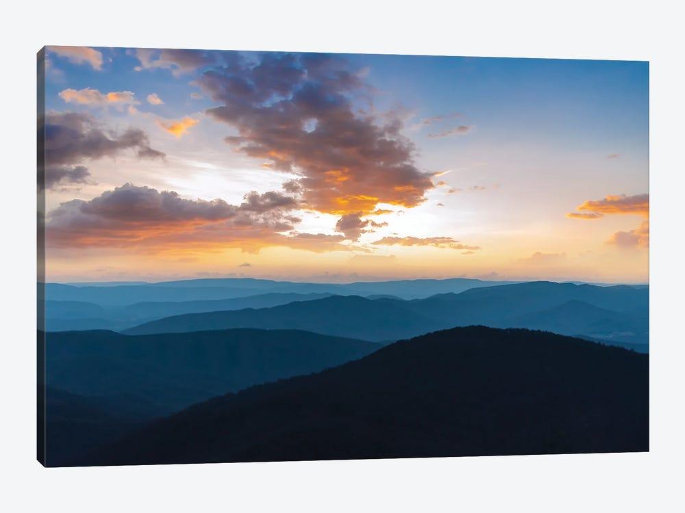 Blue Ridge Sunset by Lucas Moore 1-piece Canvas Art Print