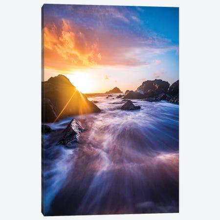 Sunrise Waves Canvas Print #LCS119} by Lucas Moore Canvas Art Print