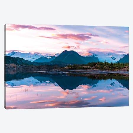 Glacier Sunset Canvas Print #LCS125} by Lucas Moore Canvas Print