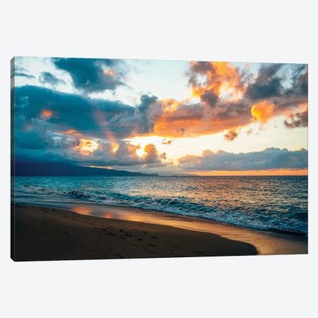 Maui Sunset Canvas Print #LCS131} by Lucas Moore Canvas Print
