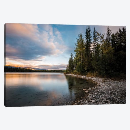 Boya Lake Sunset Canvas Print #LCS19} by Lucas Moore Canvas Artwork