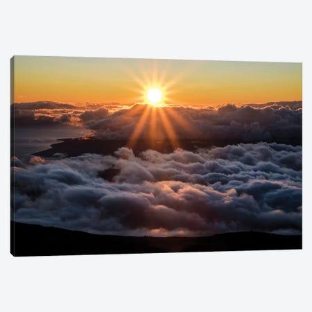 Haleakala Sunset Canvas Print #LCS40} by Lucas Moore Canvas Art Print