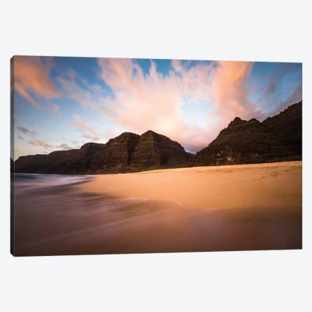 Kauai Beach Sunset Canvas Print #LCS45} by Lucas Moore Canvas Wall Art