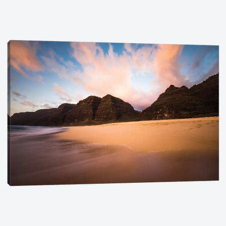 Kauai Beach Sunset Canvas Print #LCS45} by Lucas Moore Canvas Wall Art