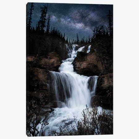 Milky Way Waterfall Canvas Print #LCS57} by Lucas Moore Canvas Art Print