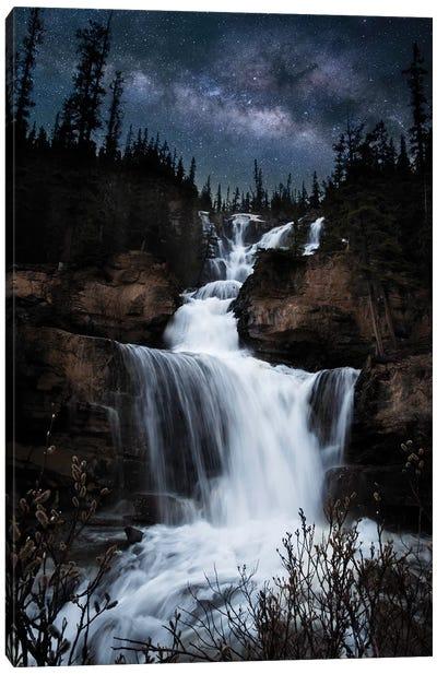 Milky Way Waterfall Canvas Art Print
