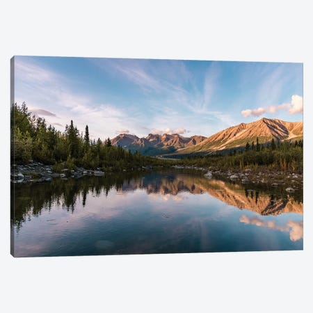 Alaskan Reflection 3-Piece Canvas #LCS5} by Lucas Moore Canvas Art Print
