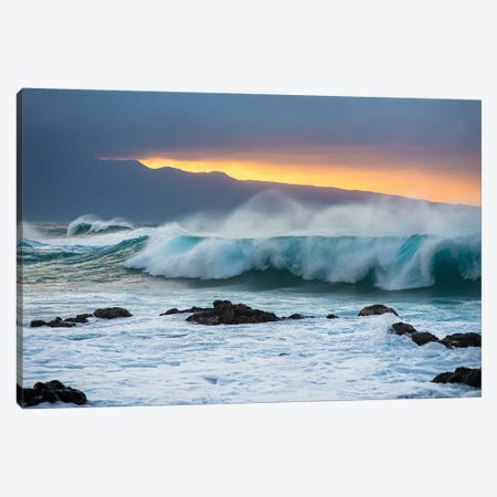 Mountains And Waves 3-Piece Canvas #LCS64} by Lucas Moore Canvas Artwork